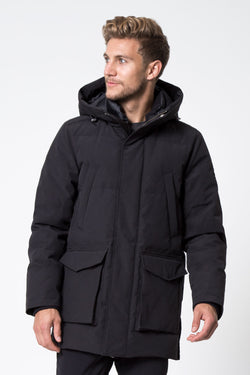 MPG Sport's clearance warehouse men's Icecap Down Filled Parka in Black