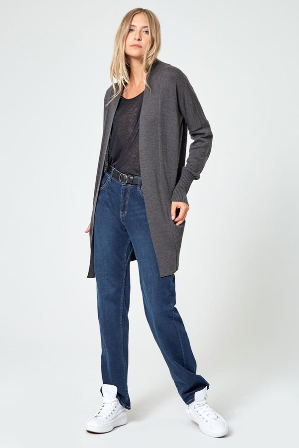 Establish Sustainable Merino Wool Open Front Cardigan