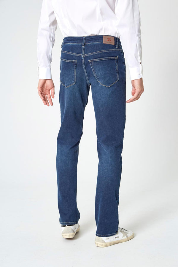 PerformFit Escape Straight Washed Indigo Jeans