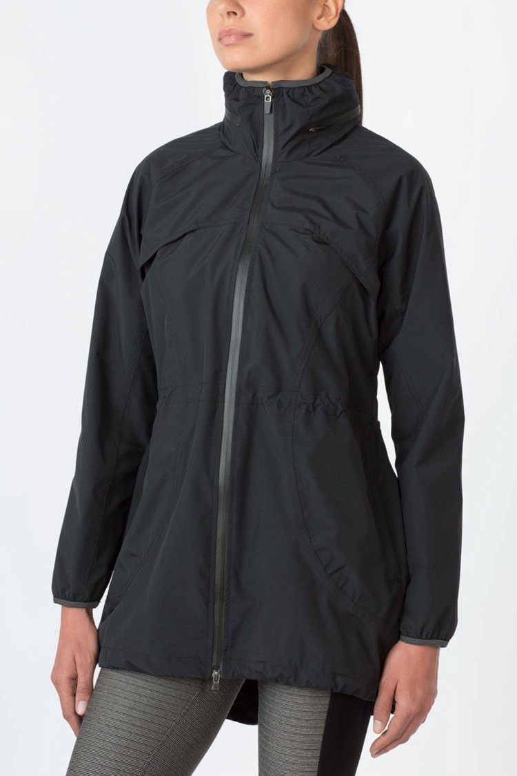 MPG Sport's clearance warehouse women's H2O Magic Rain Jacket in Black