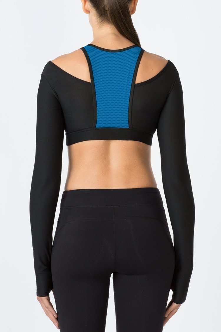 Barre Long Sleeve Bra Top