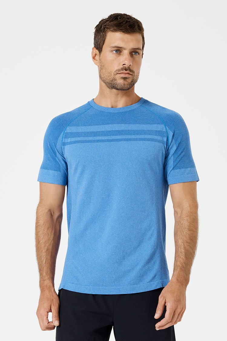 Activewear Flight Tracker Active-dry Breathable Textured Polyester Sports Athletic Tee T-shirt Tshirt