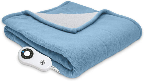 Fleece Reversible Heated Blanket