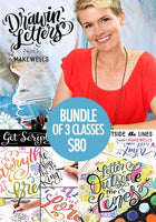 BUNDLE of 3 Classes: Drawin' Letters, Get Scripty, and Letter Outside the Lines
