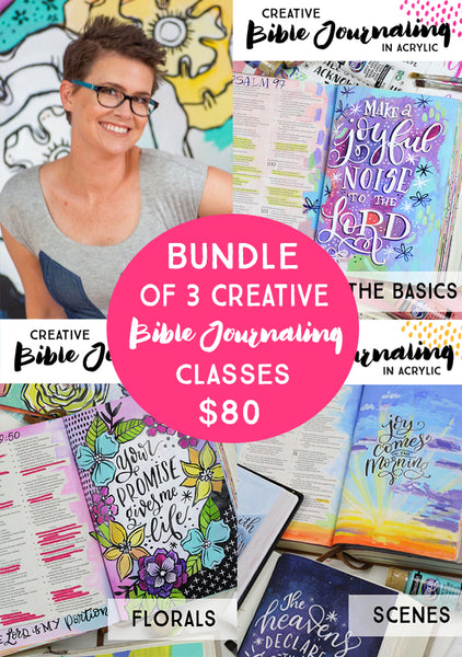 BUNDLE: Creative Bible Journaling in Acrylics