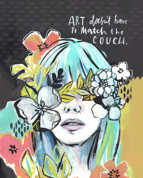 Art Doesn't Have to Match the Couch