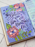Creative Bible Journaling in Acrylics - Florals