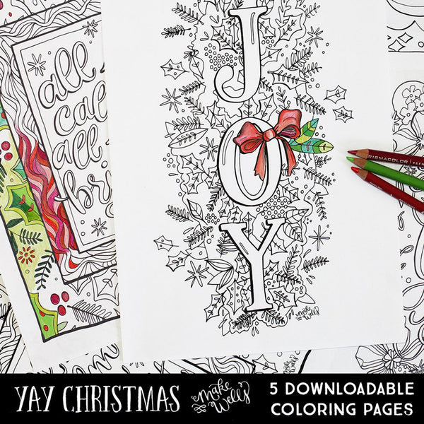 YAY Christmas Downloadable Coloring Pages