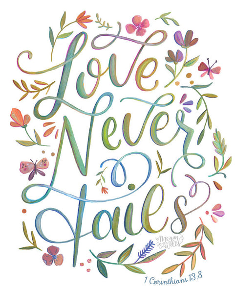 1 Corinthians 13:8 - Love Never Fails