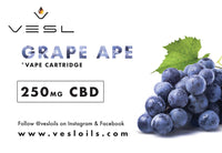 Grape Ape 250mg CBD Vape Cartridge
