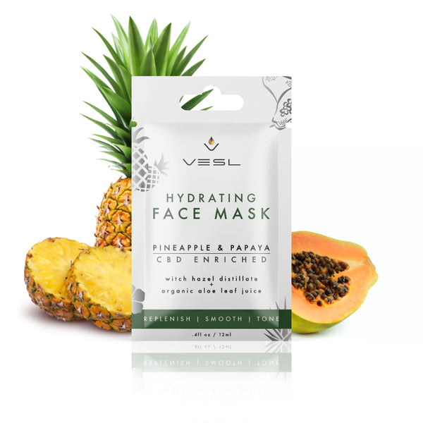Hydrating pineapple and papaya cbd face mask