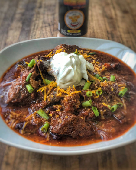 Smoked Chuck Roast Chili