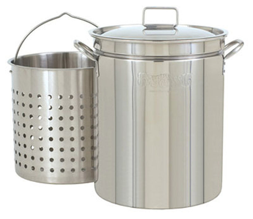 Bayou Classic 62 Qt. Stainless Steel Steam-Boil-Fry Stock Pot