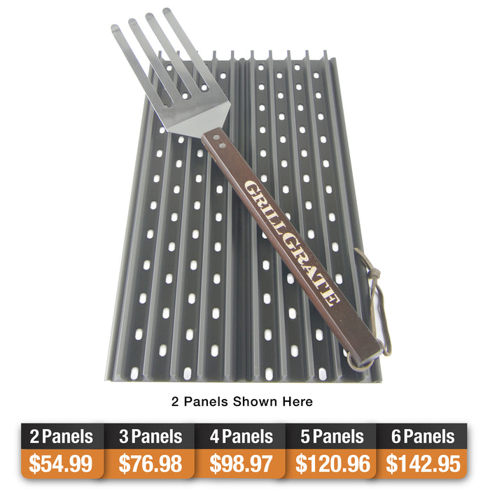 "GrillGrate – 4 Panel Surface Set of 17.375"" Grates"