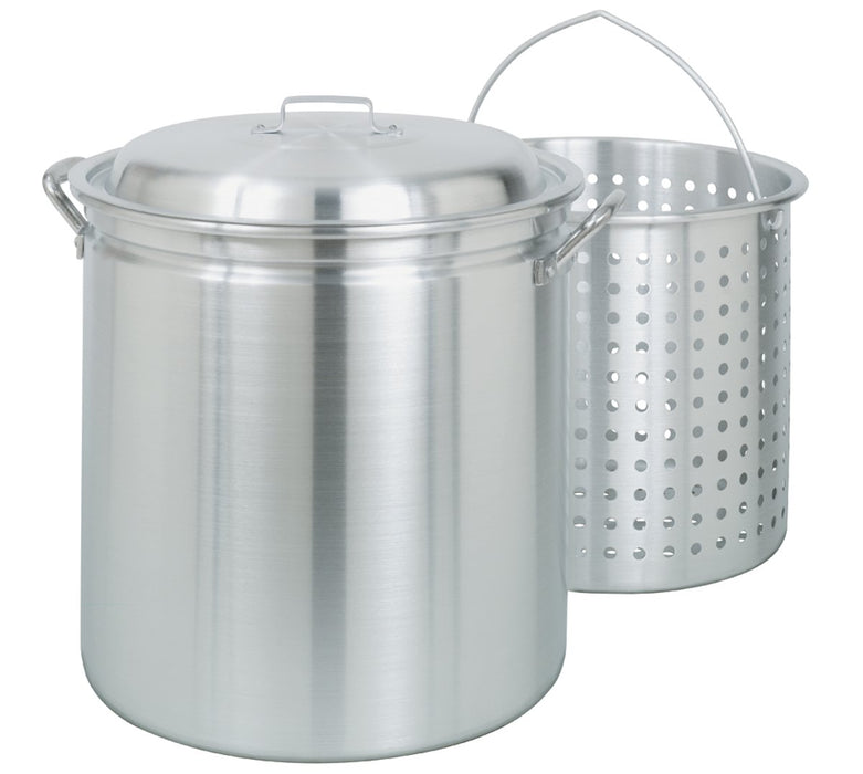 Bayou Classic 4042 42-Quart All-Purpose Aluminum Stockpot with Steam and Boil Basket 801901