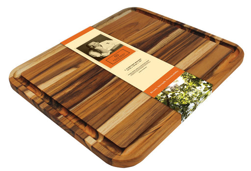 "Madeira Brazilian Teak Large Carving Board 13.75""x16.25""x.75"" M-04"