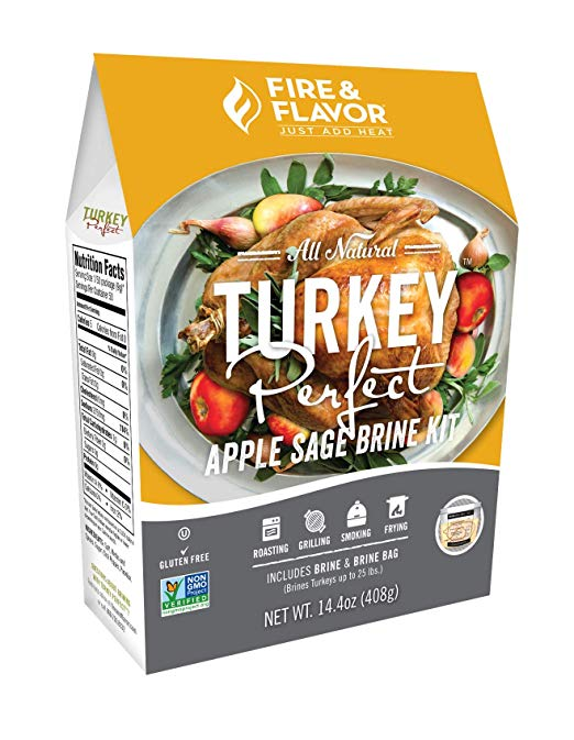 Fire & Flavor Turkey Perfect Brining Kit, Apple Sage,14.4 oz (408 g)