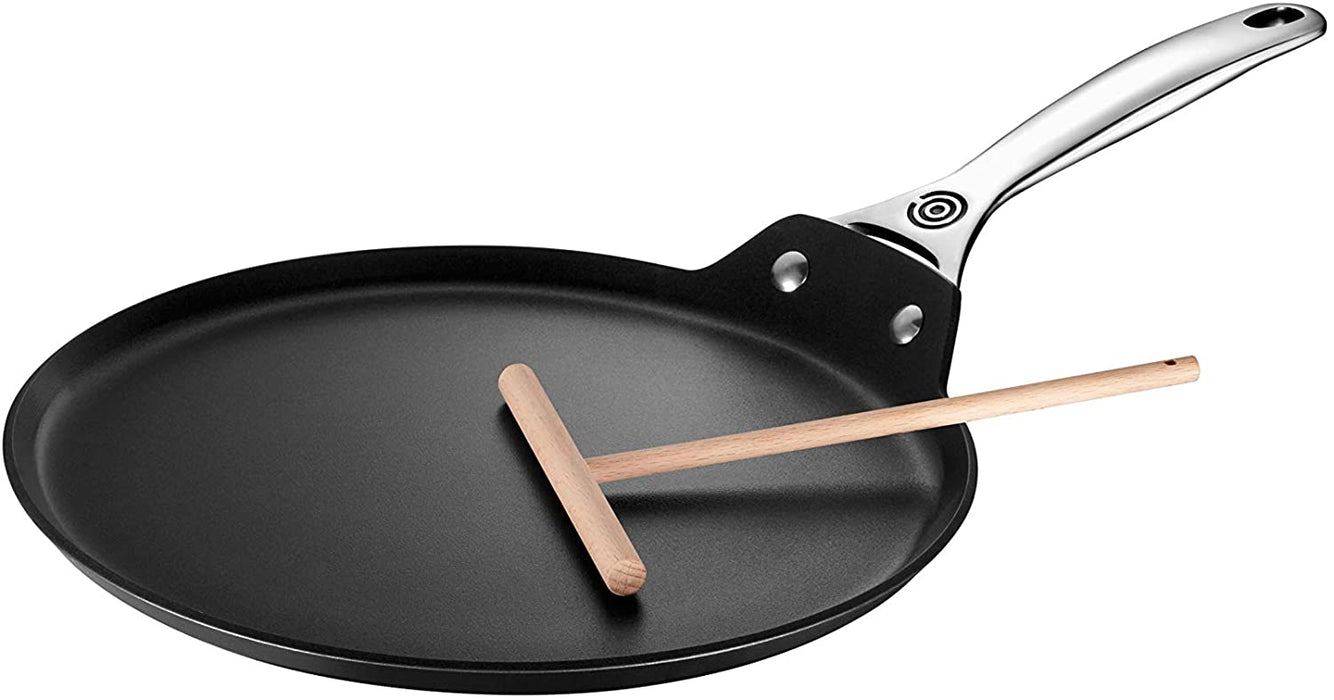 "Le Creuset Toughened Nonstick PRO 11"" Crepe Pan with Rateau"
