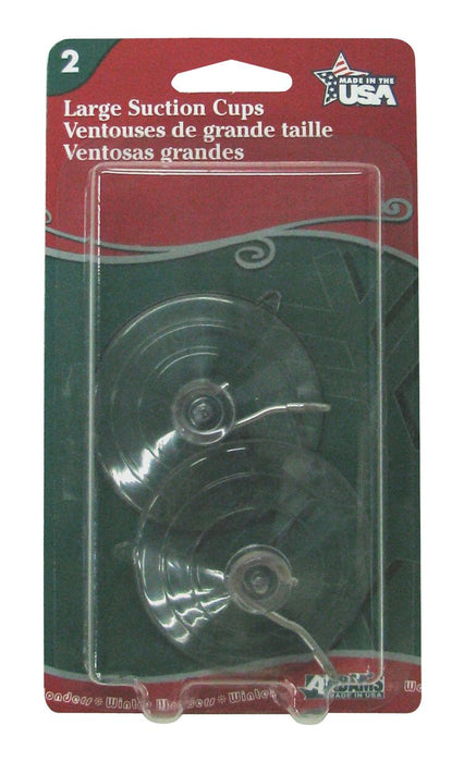 Adams Christmas 6000-74-1043 Large Suction Cup, 2-Pack