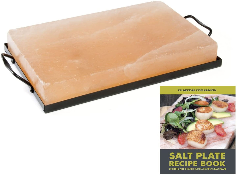 Charcoal Companion Himalayan Salt & Holder Set w/ Recipe Book