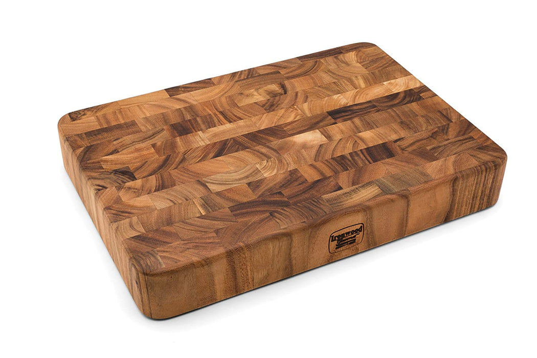 "Ironwood 3"" End Grain Union Stock Yard Professional Chopping Butcher Block"