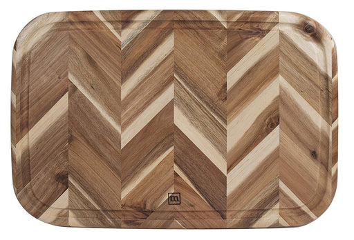 Madeira Herringbone Cutting Board with Gravy Well