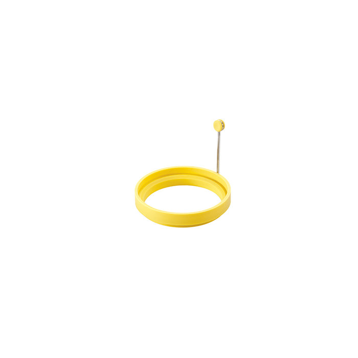 Lodge Silicone Egg Ring, 4 Inch Diameter With Stainless Steel Handle