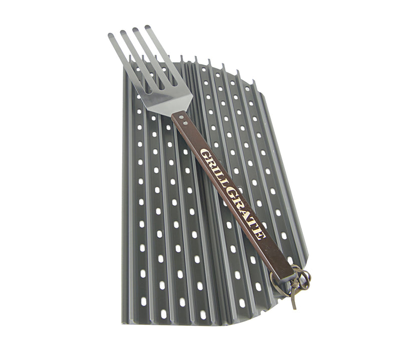 "HALF Set of GrillGrates for the XL Green Egg, Big Joe, & 26.75"" Kettle Grill"