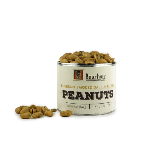 Bourbon Barrel Smoked Salt & Pepper Peanuts 9oz.