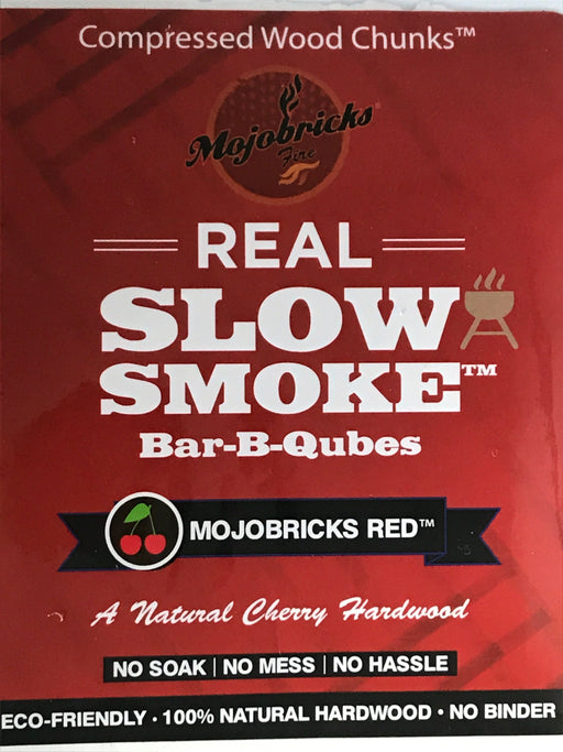 Mojobricks Red (Cherry) Bar-B-Qubes (medium size)