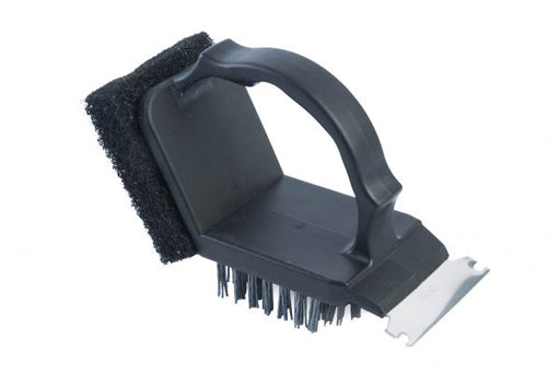 Plastic 2 in 1 Safe-Scrub Grill Brush, Regular, Black