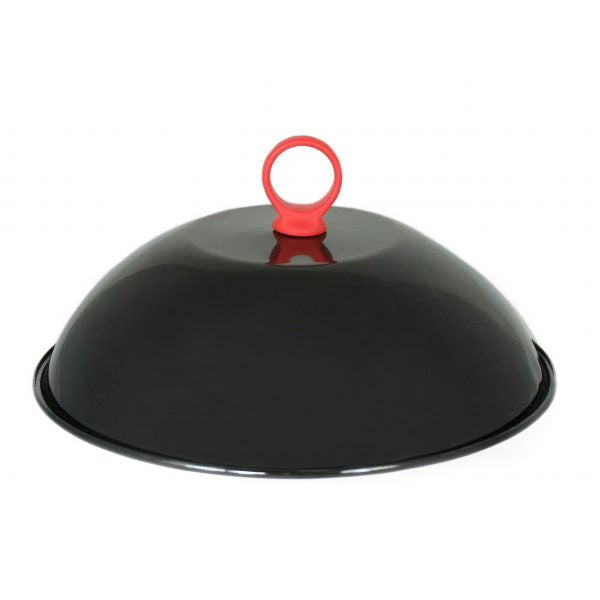 Enameled Grill Dome with Silicone Handle