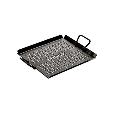 Lodge 13 X 12 Inch Carbon Steel Outdoor Grilling Pan