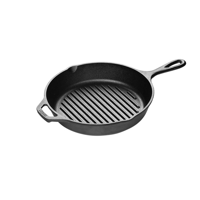 Lodge 10.25 Inch Cast Iron Grill Pan, Fits 10 Inch Glass Lid