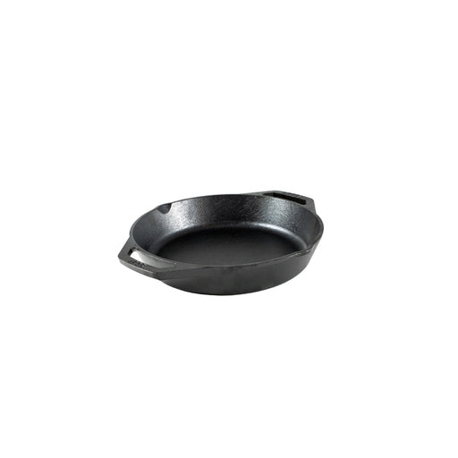 Lodge 10.25 Inch Cast Iron Pan, With Loop Handles, Fits 10 Inch Glass Lid