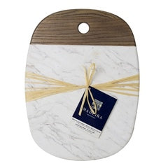 Architec® Madeira™ Ashwood + Matte Honed White Marble Board