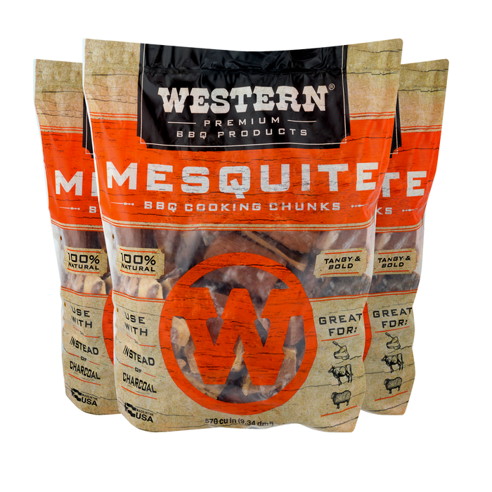 Western Mesquite BBQ Cooking Chunks