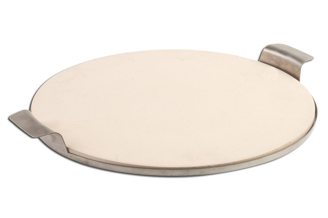 "15"" Round Pizza Stone with Stainless Steel Tray"