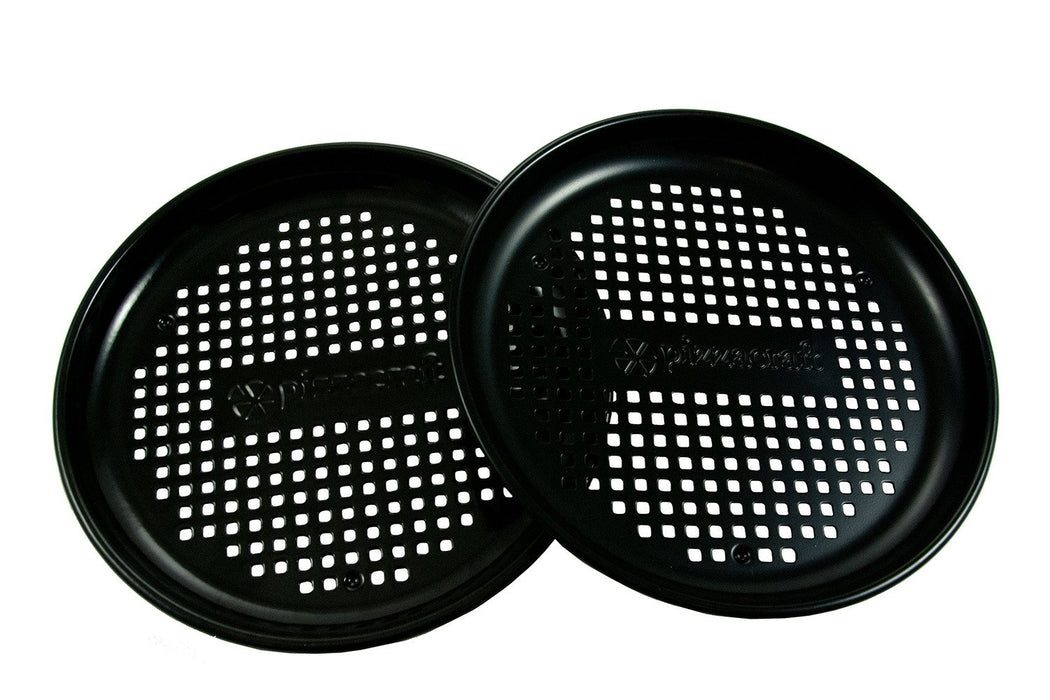 "8"" Porcelain-Coated Personal Pizza Pan – Set of 2"