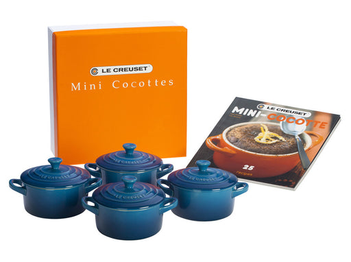 Le Creuset Mini Cocottes Set w/Cookbook