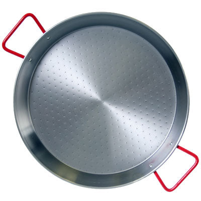 Traditional Polished Steel Paella Pan