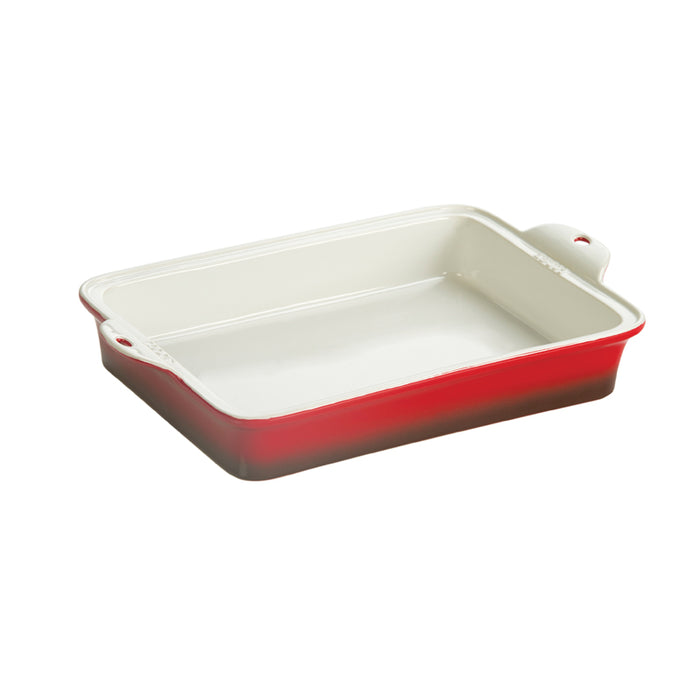 Lodge 9 X 13 Inch Stoneware Baking Dish, Red