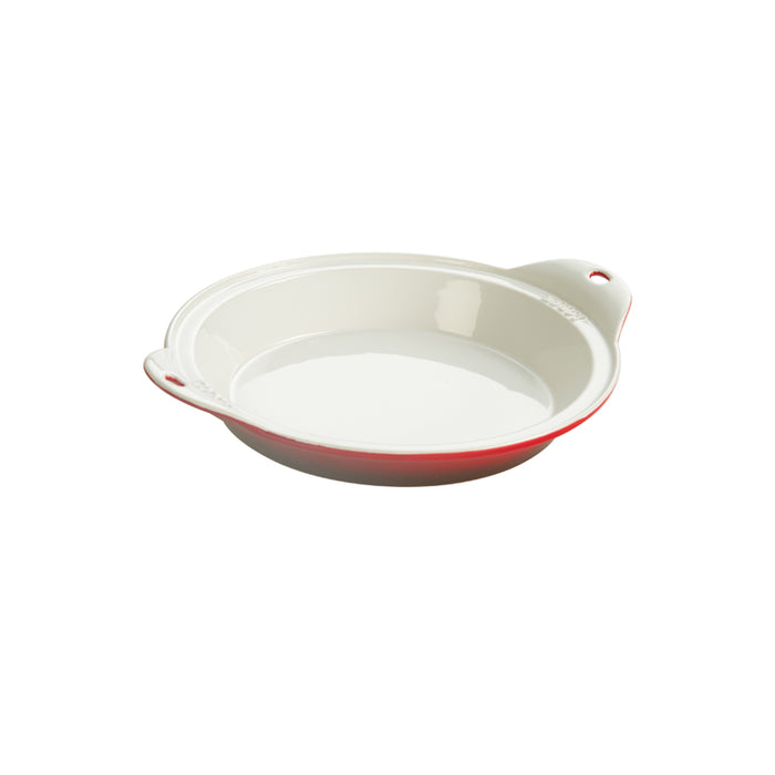 Lodge 9.5 Inch Stoneware Baking Dish, Red
