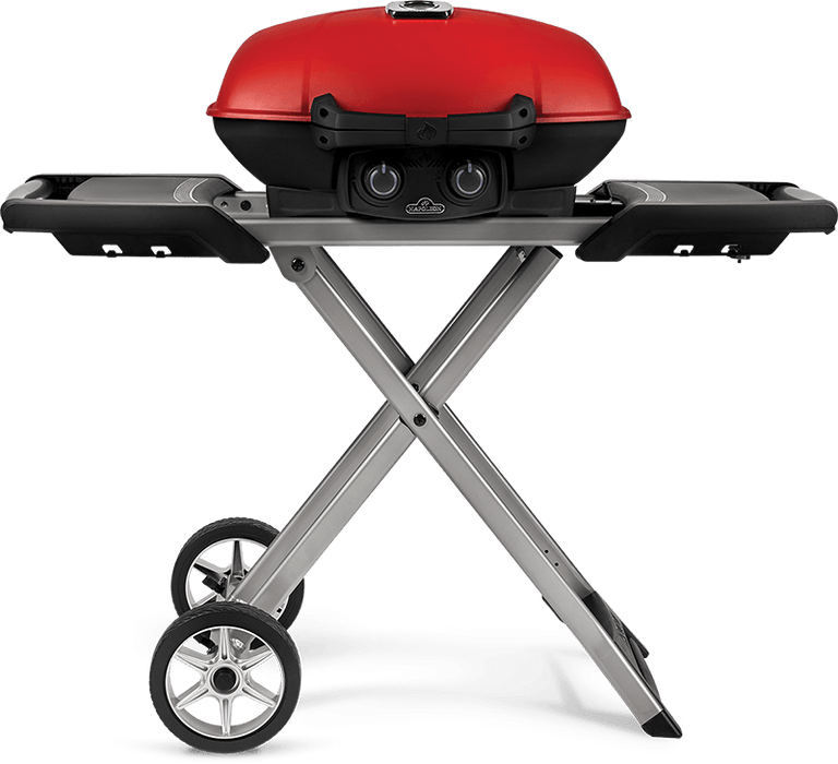 Napoleon TravelQ™ 285X and Scissor Cart with Griddle