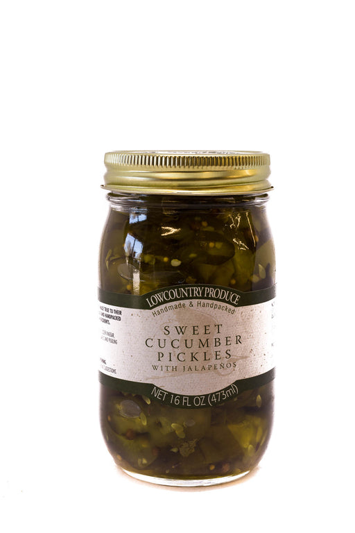 LowCountry Produce: Sweet Cucumber Pickles with Jalapeños