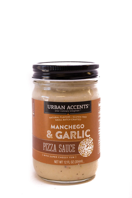 Urban Accents: Manchego and Garlic Pizza Sauce