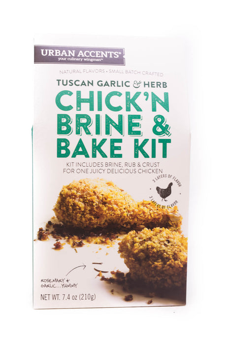 Urban Accents: Tuscan Garlic & Herb Chick'N Brine & Bake Kit
