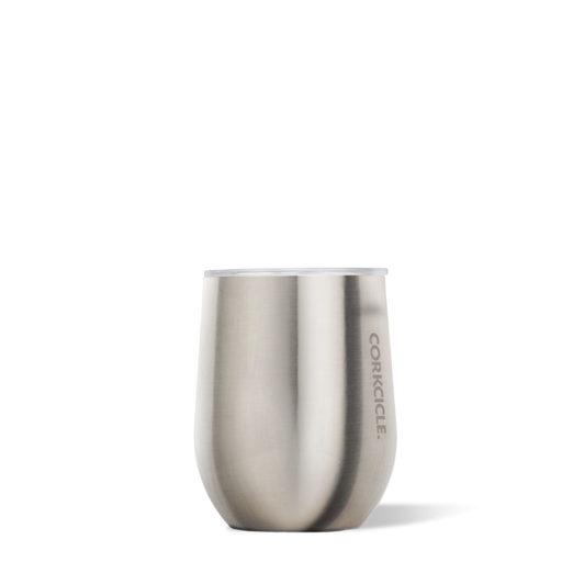 Corkcicle Brushed Steel Metallic Stemless 12oz Wine Cup
