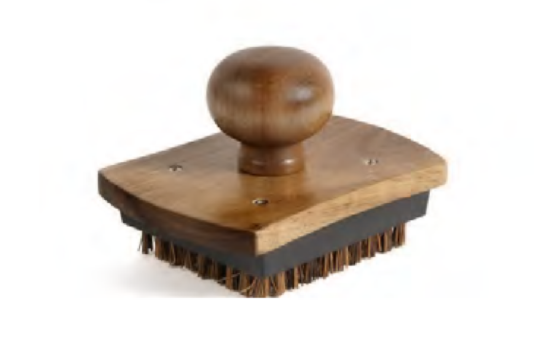 Acacia Wood Pizza Stone Scrubber