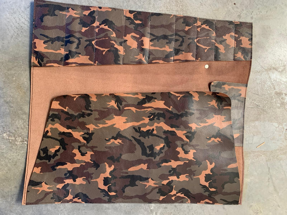 Xapron Camo Kansas Leather Knife Roll (Special Edition)